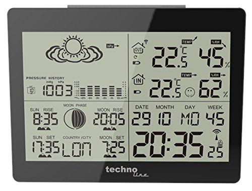 TechnoLine WS 6760 Stazione Meteo, Nero