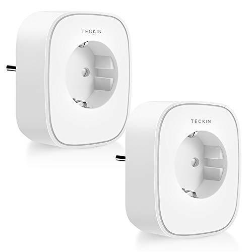 TECKIN Presa Intelligente WiFi 16A 3680W Energy Monitor Presa Smart Compatibile con Alexa Echo Dot e Google Home, Controllo da Remoto, Funzione Timer e Family Share, Presa Wireless per IOS Android APP