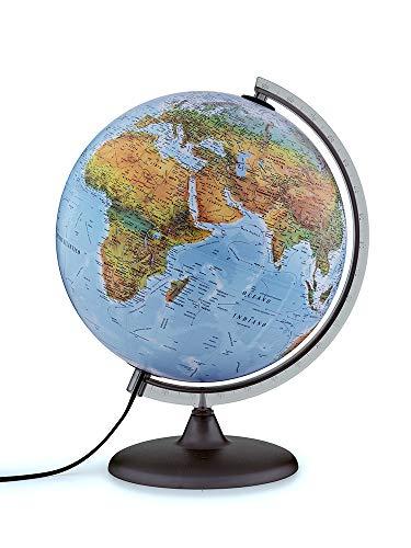 Tecnodidattica- Mappamondo Atmosphere B2, Luminoso, Girevole, cartografia Fisico/Politica e meridiano graduato, Diametro 30 cm, Colore, 0331B2FAITLFF044
