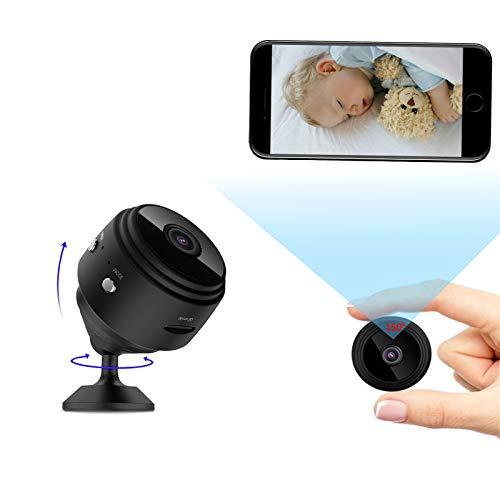 Telecamera Nascosta, 1080P HD Telecamera Spia con Visione Notturna, Telecamera Wi-Fi Interno Wireless Rilevamento di Movimento Sorveglianza per Esterno/Interno