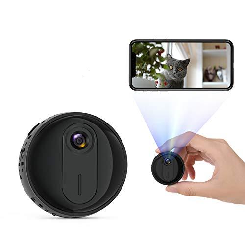 Telecamera Nascosta,1080P WiFi Mini Spia Portatile Microcamera Micro Spy Cam Sorveglianza con Visione Notturna,Spy Cam Rilevamento di Movimento,Adatto per interni/esterni