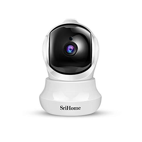 Telecamera Wi-Fi Interno FHD 3MP, SriHome Telecamera IP Senza Fili di Sicurezza Domestica HD Wifi con Visione Notturna, Pan/Tilt,Monitor di Sorveglianza Interna per Animali Domestici, Bambini
