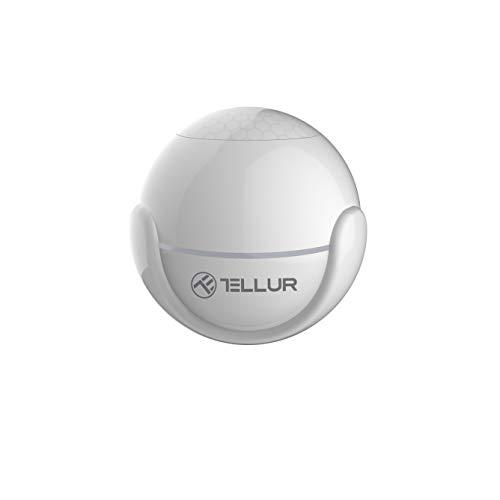 Tellur SMART - Sensore di movimento WiFi, senza fili, PIR, controllabile tramite app, nessun hub richiesto, rotondo, Ø 5 cm, bianco