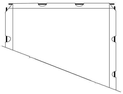 Telo Proiezione Trasportabile (112 Pollici) 250cm Formato 16:9 250x141 Telo Bianco 2 metri Smontabile per Schermo Service 2mt Tela Proiettore Bordi e Asole per Videoproiezione 2 mt