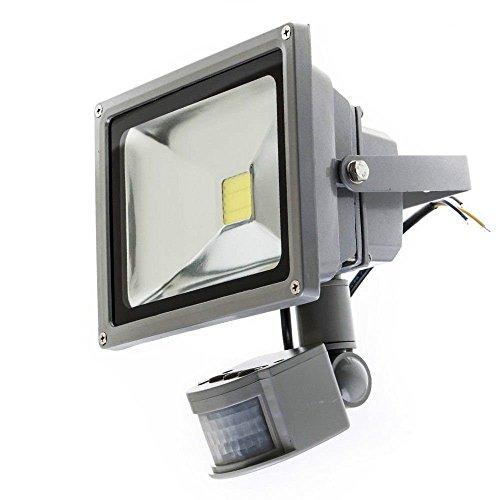 tempo di saldi Faro A Led 10 W Luce Bianca Fredda Con Sensore Di Movimento Crepuscolare IP65