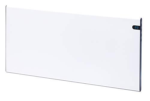 Termoconvettore elettrico da parete, bianco, 1400 W, Bendex LUX ECO, 370 mm, elegante e sottile, a risparmio energetico, montaggio a parete, display LED