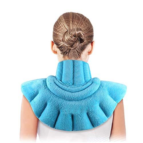 Termoforo Cervicale e Spalle,Cuscino riscaldante per collo e spalle,utilizzabile in microonde,per alleviare il dolore,Rimedio Dolori Cervicali,Contratture Muscolari (blu)