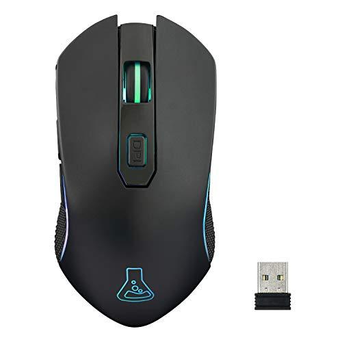 THE G-LAB Kult XENON Wireless Gaming Mouse Ricaricabile ad Alte Prestazioni - Wireless Gaming Mouse 5000 DPI, RGB LED, 6 Pulsanti, Software dedicato, Leggero e Veloce, Compatibile PC/PS4/Xbox One