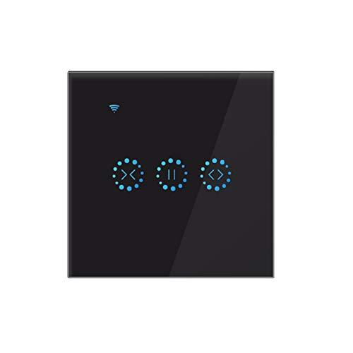 Tiamu App Wifi, interruttore per tapparelle avvolgibili, interruttore Alexa – nero