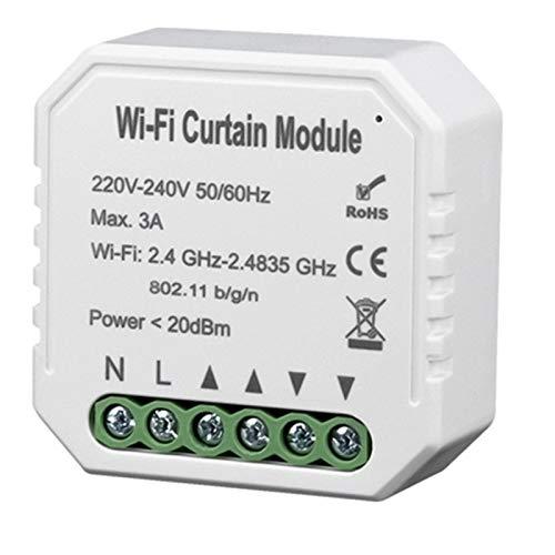 Tiamu WiFi Smart Light Switch Modulo temporizzazione remota del telefono cellulare dell'interruttore della tenda wifi adatto per ALexa / GoogleHome
