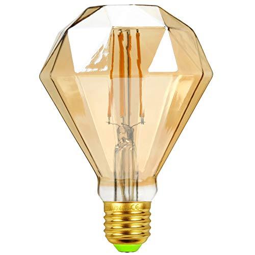 TIANFAN Lampadine a Led Lampadina Vintage 4W Lampadina a Filamento Led Lampadina Edison Speciale Lampadina Decorativa 220 / 240V E27 (Diamante φ95mm)
