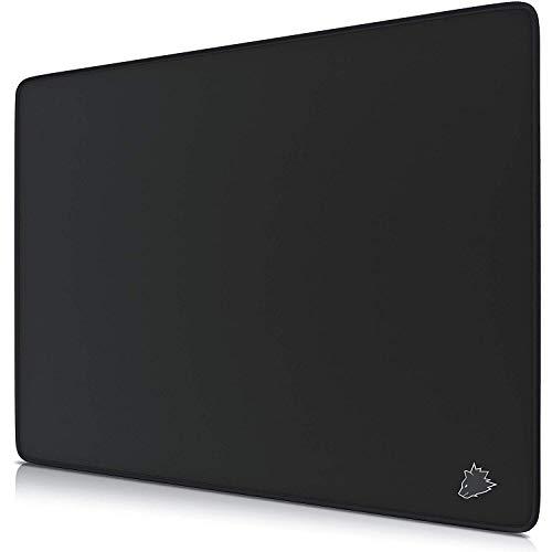 TITANWOLF - XL Tappetino per Mouse da Gioco - Gaming Mousepad Super Grande 440 x 350mm - Pad con Base in Gomma Antiscivolo - Spessore 3mm - Nero - Modello Symbol