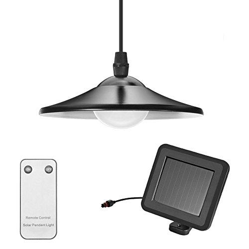 Tomshine - Lampada a sospensione a energia solare con pannello solare e interruttore a tiretto con 2 modalità - IP44 impermeabile