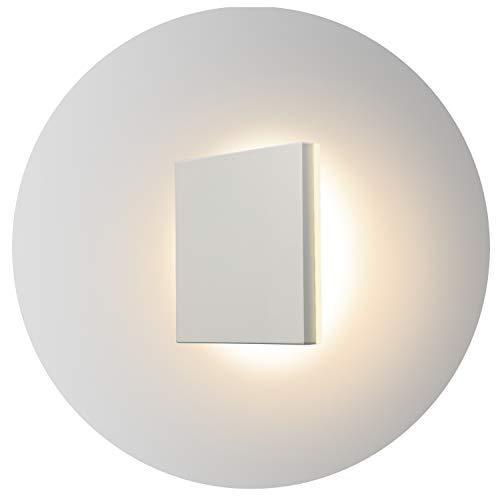 Topmo-plus 8W Lámpara da parete LED OSRAM SMD Luci Muro Applique design per interno/esterno waterproof IP65 alluminio Faretto soggiorno / terrazzo / giardino 15CM (bianco / bianco caldo)