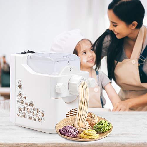 TOPQSC Macchina per Pasta Fresca Elettrica Intelligente Automatico Macchina e per gli Impasti Capacità Grande 500g, 9 Trafile per Pasta/Gnocchi per Multifunzione tipi di pasta Spaghetti