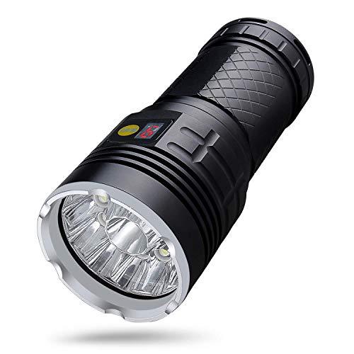 Torcia portatile a LED ad alta potenza Torcia ricaricabile da 20000 lumen con 18 * LED Tecnologia di protezione dell'isolamento e batteria 4 modalità Lampada torcia impermeabile per campeggio