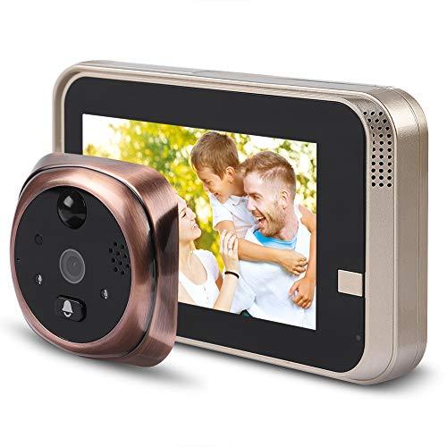 Tosuny Telecamera per visore di Porte, Macchina Fotografica di spioncino della Porta dello Schermo di 720p 4.3inch HD, Campanello per visualizzatore di spioncino WiFi Intelligente