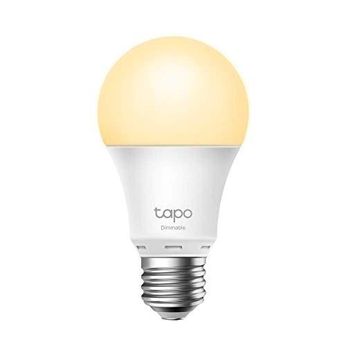 TP-Link Lampadina Wi-Fi E27, Funziona con Amazon Alexa e Google Home, 806 lumen, 8.7W, Giallo caldo dimmerabile dall' 1% al 100%, 2700 K, Controllo da remoto (Tapo L510E)