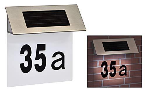 TP-Products - Piastra da parete per esterni con LED ad alimentazione solare per numero civico