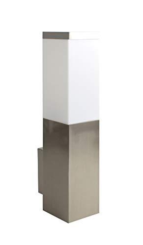 Trango TG8008 IP44 - Lampada da parete in acciaio inox e plastica con attacco E27, adatta per tutte le lampadine a LED, per esterni, esterni, lampada da giardino