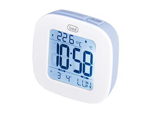 Trevi SLD 3860 Orologio con Display Retroilluminato, Termometro, Calendario Multilingue, Funzione Snooze, Blu