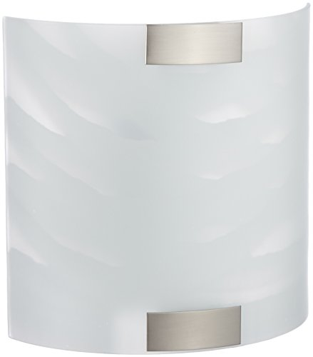 Trio 2523011-01 Lampada da Parete in Nichel, Vetro Bianco, 20x20 cm, incandescente