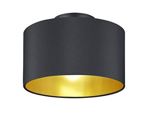 Trio Leuchten Hostel Lampada da soffitto, Schwarz Matt/Goldfarbig