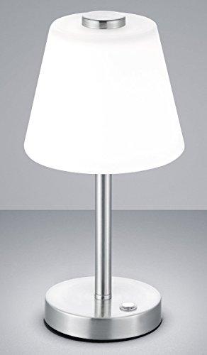 Trio Leuchten Lampada da Tavolo Integriert, 4 W, Nickel Satinato, 15 x 15 x 29 cm