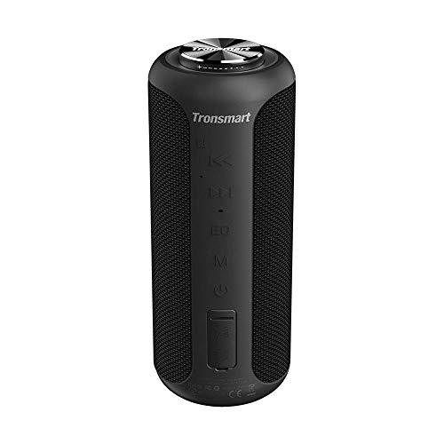 Tronsmart T6 Plus Upgraded Edition Cassa Bluetooth 40W, Altoparlante Waterproof IPX6 con Powerbank, 360° Suono Stereo TWS, 15 Ore di Riproduzione, Effetti Tri-Bass, Speaker con Bluetooth 5.0 e NFC