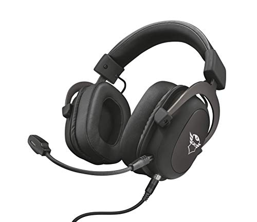Trust Cuffie Gaming GXT 414 Zamak con Flessibile Microfono Staccabile e Archetto Regolabile, 3.5 mm Jack, Filo, Over Ear, PC, PS4, PS5, Xbox Series X, Xbox One, Switch, Nero