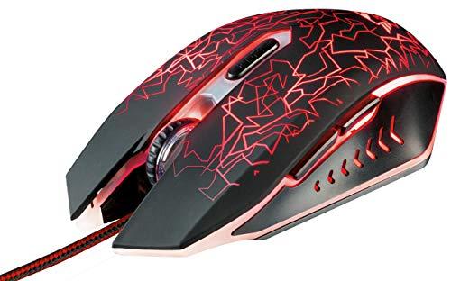 Trust Gaming 21683 GXT 105 Mouse da Gioco con 6 Pulsanti, Cablato, Nero