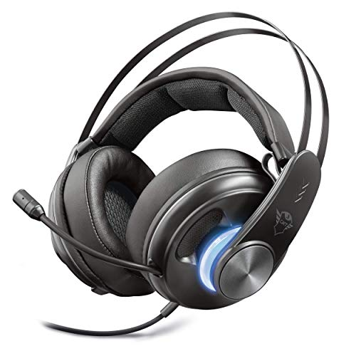 Trust Gaming GXT 383 Dion Cuffie Surround 7.1, Over Ear, Nero