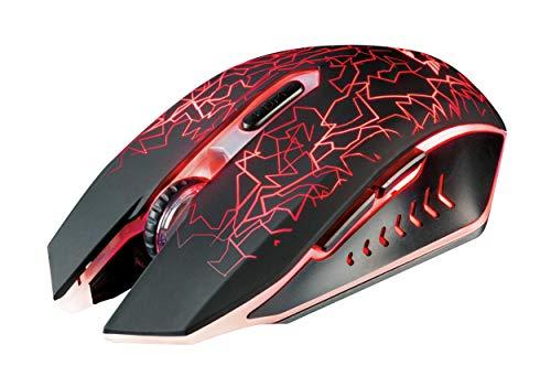 Trust GXT 107 Izza Mouse Gaming Wireless, Cablato,Nero