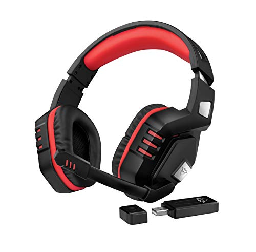 Trust GXT 390 Juga Cuffie gaming wireless per PC e PS4, Nero