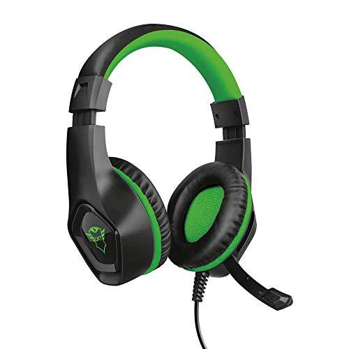 Trust GXT 404G Rana Cuffie Gaming per Xbox One, Potenti unità Altoparlanti Attive da 40 mm, Verde