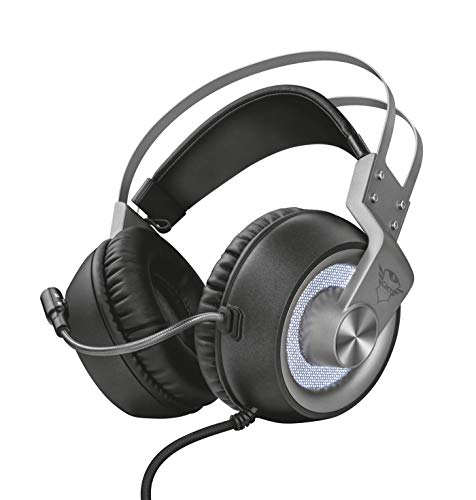 Trust GXT 4376 Ruptor Cuffie Gaming Over-Ear con Unità Altoparlanti e Suono Surround 7.1, Grigio