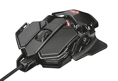 Trust Mouse Gaming GXT 138 X-Ray, Sensore Ottico 4000 DPI, 10 Pulsanti Programmabili, Illuminazione RGB Personalizzabile, Nero