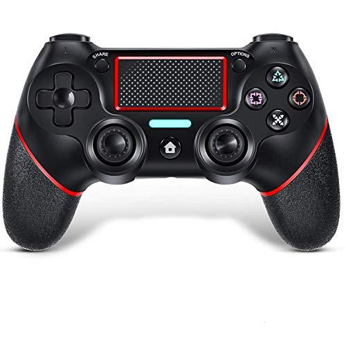 TUTUO Controller per PS4, Gamepad Bluetooth per Playstation 4 Controller di Gioco Wireless Doppio Shock a Sei-Assi Joystick con TouchPad e Jack Audio, Controller Wireless per PS4/PS4 Slim/PS4 PRO/PC