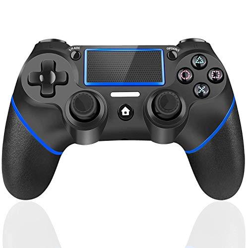TUTUO Joystick Controller per PS4, Wireless Controller, di Gioco Wireless Doppio Shock a Sei-Assi Joystick con TouchPad e Jack Audio, Controller Wireless per Playstation 4/Slim/PRO/PC