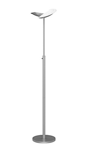 UNILUX 400100711 ZELUX - Lampada a stelo LED da 40 W, luce bianca calda, per illuminazione diretta e indiretta, con dimmer rotante [classe energetica A+]