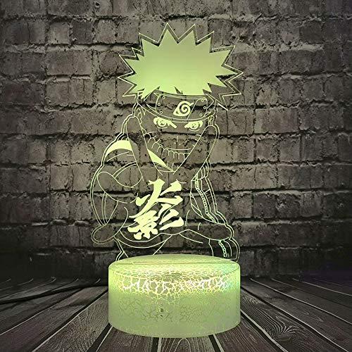 Uzumaki Naruto LED Night Light 3D Cartoon Haruno Uchiha Sasuke Modellazione Lampada Da Tavolo Nara Shikamaru 7 Cambiamento di Colore Decor Casa Mood Lava Vacanza per BAB