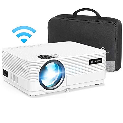 """VANKYO Leisure 470 Proiettore WiFi, Videoproiettore Supporta 1080P con Display da 250"""", HiFi Speaker, 2 Porte HDMI, con Borsa Portatile, per TV Stick Chromecast PC iPhone Android Regalo Feste"""