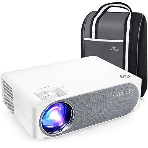"""VANKYO Performance V630 Proiettore 7000Lux Videoproiettore Nativo 1080P Full HD, Display da 300"""", 50° Correzione, con Borsa Portatile, per iOS Android TV Stick Casa PPT"""