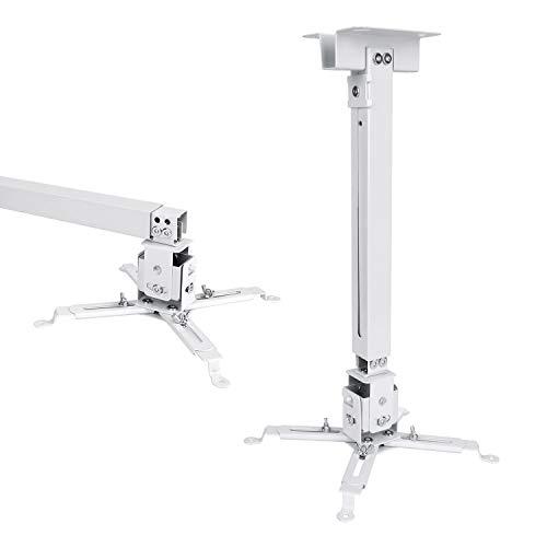 VANKYO PM20 Supporto Proiettore a Soffitto/Muro Universale 12.7-60.9cm Carico Massimo 30kg, per Leisure 470/510PW/530W V630 per Proiettore di Diverse Dimensioni(Bianco)