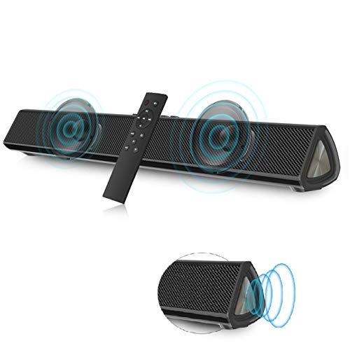 VANZEV Soundbar 2.0 Canali per PC TV, Portatile Altoparlante Hi-Fi Suono Surround 3D, Bluetooth 5.0 Wireless & Cablata Compatibile TV/Cellulare/PC per Casa/Bar, Supporto [Coaxia, AUX, Chiavetta USB]