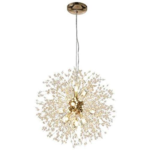Varadyle, lampadario moderno in cristallo, con corona di cristalli, lampada a LED, lampada a forma di leone, lampada per ristorante