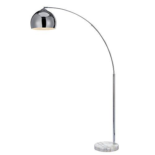 Versanora VN-L00010-EU Arquer Arc Lampada da Pavimento 50 W, Cromo, 31 x 110 x 174 cm, ferro;plastic