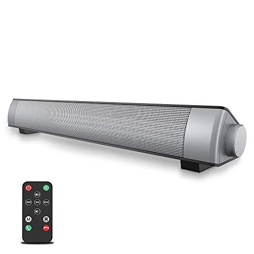 VersionTECH. Soundbar 2.0 Canali, Altoparlante Hi-Fi Suono Surround 3D, Barra Soundbar Bluetooth 4.1 Wireless & Cablata Compatibile TV/Cellulare/PC per Casa/Bar/Montaggio a Parete, supporto [RCA, AUX]