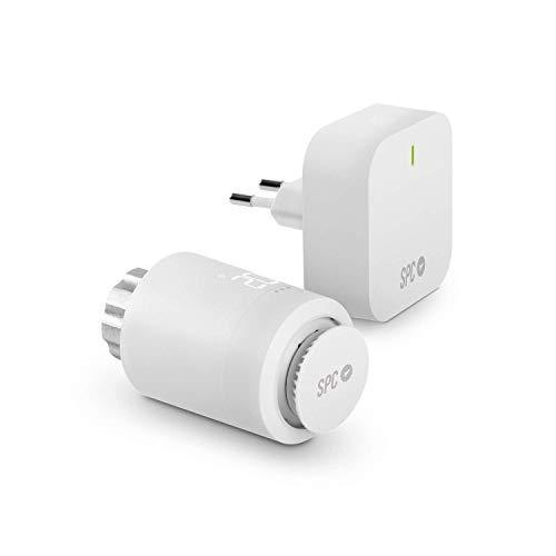 Vesta Starter Kit: Valvola termostatica Wi-Fi, controllo intelligente del riscaldamento tramite SPC IoT App, Amazon Alexa, Google Assistant