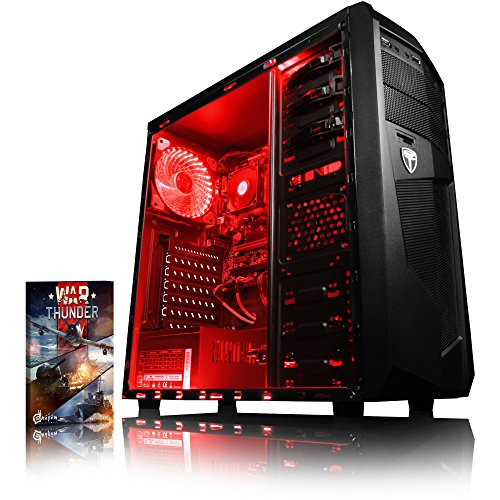 Vibox Sniper 10XW PC da Gaming, Processore Intel Core i7 4790 Quad Core, RAM 16GB, SSD da 120GB, HDD da 2TB, Scheda Grafica nVidia GeForce GTX 970 Maxwell da 4GB, Rosso